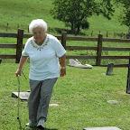 Fran Nichols walks in the William Gleaves Cemetery in Wythe County Virginia