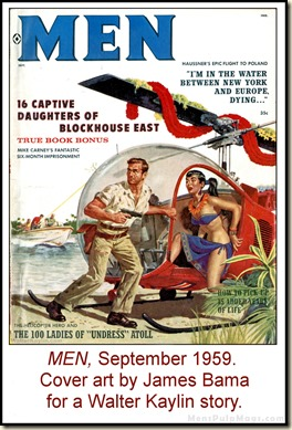 05 - MEN, Sept 1959. Walter Kaylin, art by James Bama