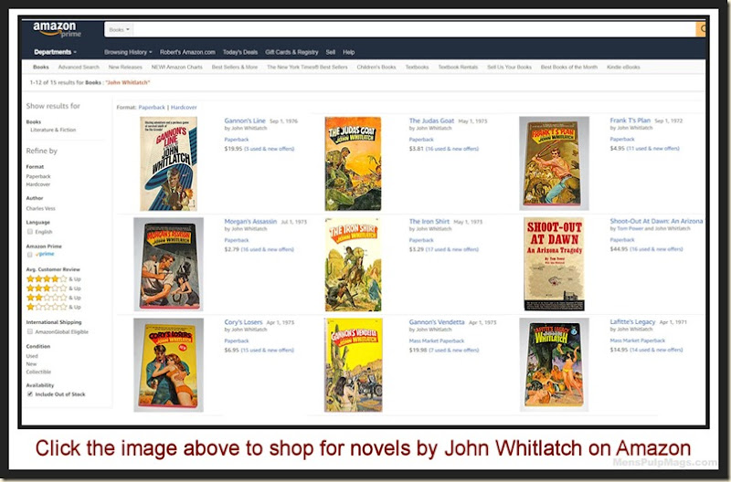 John Whitlatch novels on Amazon