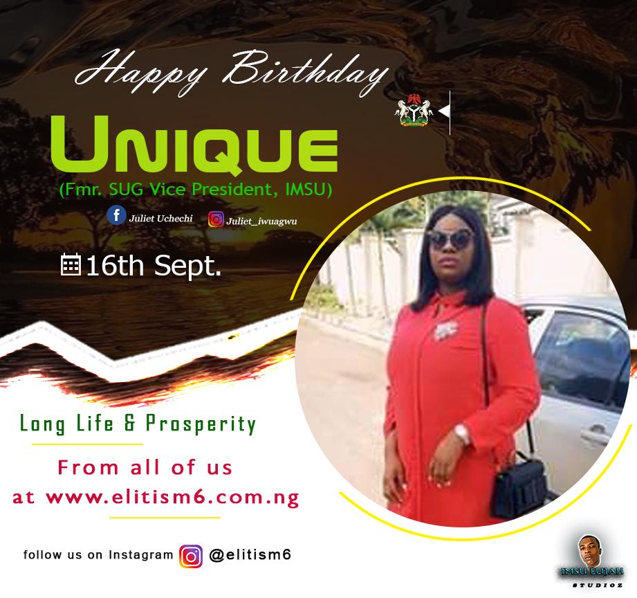 Happy Birthday To IMSU Immediate Past SUG VP Unique Iwuagwu