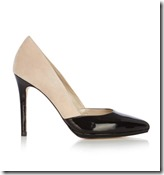 Karen Millen patent and suede court shoes