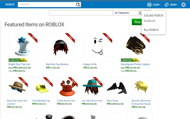 robux to dollars display
