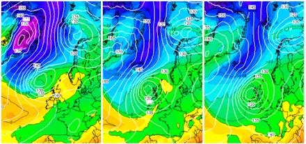 Πολικός αυλώνας στην Βόρεια Ευρώπη - Αφρικανικός αντικυκλώνας στην Νοτιοανατολική Ευρώπη
