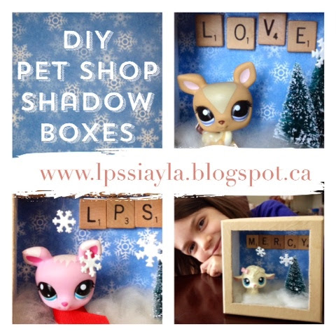 DIY Littlest Pet Shop Shadow Boxes