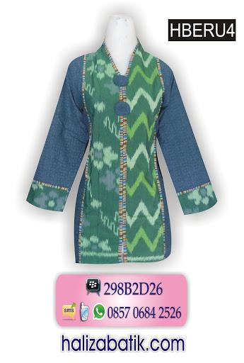 HBERU4 Baju Batik Wanita Terbaru, Desain Baju Batik, Model baju batik terkini, HBERU4
