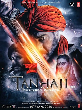Poster Of Bollywood Movie Tanhaji: The Unsung Warrior 2020 300MB Pdvd Full Hindi Movie