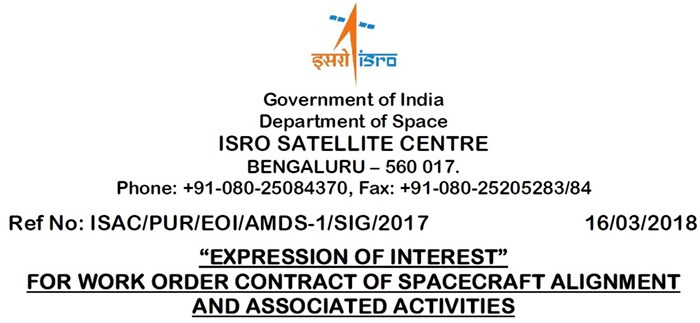 ISAC - Satellite System Alignment - India - EoI - 01