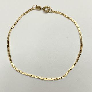 14K Gold Box Chain Bracelet