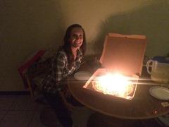 My birthday pizza!