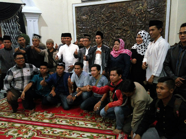 Wabup Buka Bersama dengan Kades, Pers dan LSM Sekabupaten Kerinci