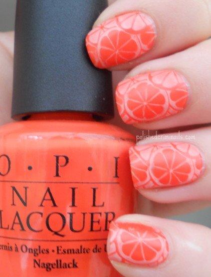 Day 2 - Orange Nails