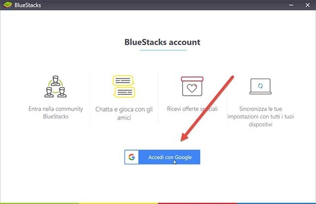accedere-google-bluestacks