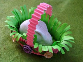 paper clay Easter bunny