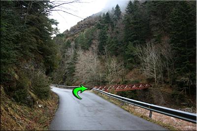 Puente Sil, desvío a la derecha y abandonamos la carretera
