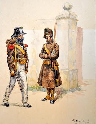 de chasseurs? Figurine Napoléonienne  Figurine Légion Piémontais 18 Tambour,