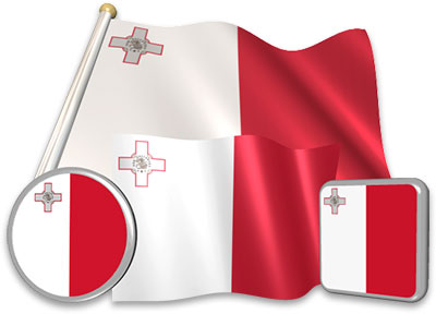 Maltese flag animated gif collection