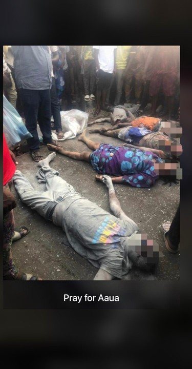 3 Siblings Die After A Truck Rammed Into Their Mother's Shop In AAUA (Photos)