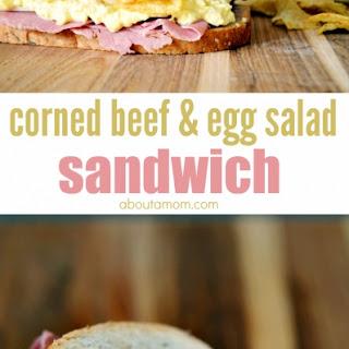 Corned Beef and Egg Salad Sandwich.
