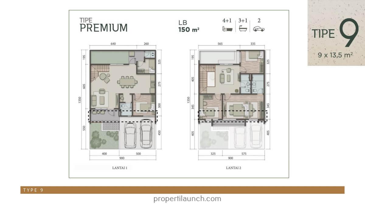 Rumah Carson Summarecon Serpong Tipe 9 Premium