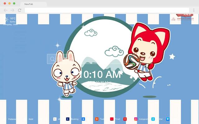 桃子 新标签页 高清壁纸 流行动漫 主题