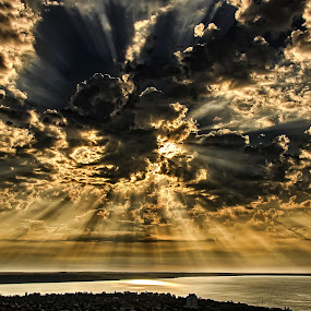 Sunblock by Björn Olsson - Landscapes Cloud Formations ( clouds, hungary, sky, sea, balaton, landscape )