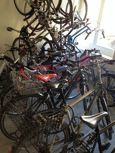 Fahrrad-Abstellraum in Bern, Schweiz