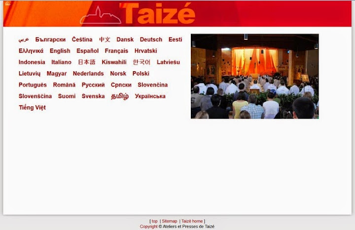 Rencontres internationales taize 2017