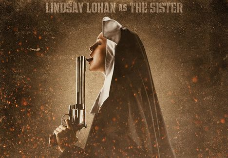 Lindsay Lohan Is A Dirty Nun:bitch,dress for girls0