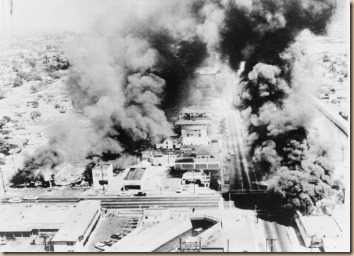 Wattsriots-burningbuildings-loc -- Public Domain