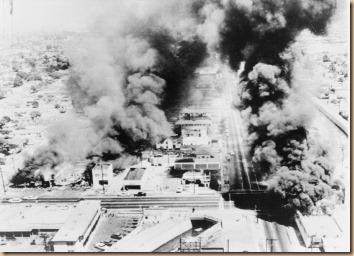 Wattsriots-burningbuildings-loc -- Public Domain