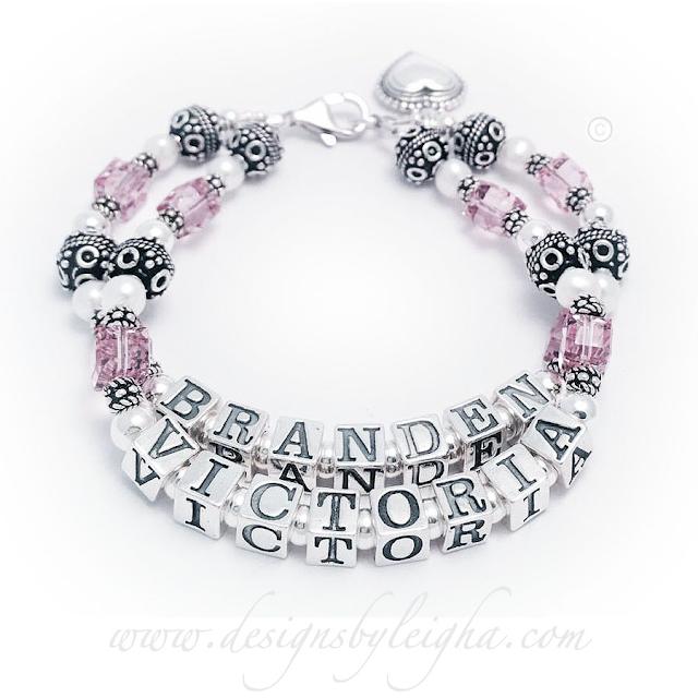 Branden & Victoria Heart Birthstone Bracelet