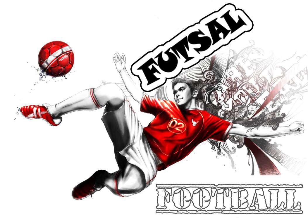 gambar futsal dan sepakbola