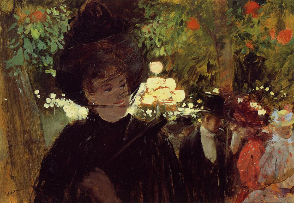 Jean-Louis Forain - The Jardin de Paris