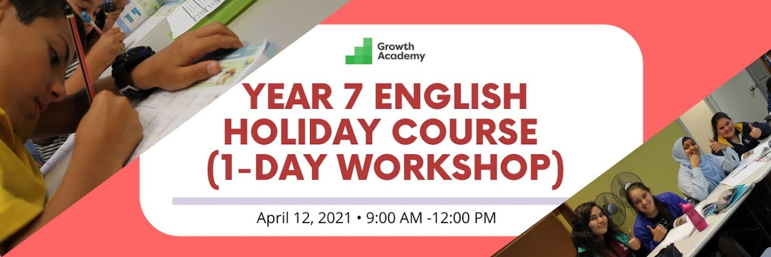 Year 7 English Holiday Course (1-day workshop)