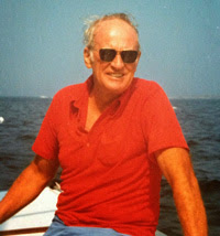 Mr deNapoli sailing- which he loved so much to do!