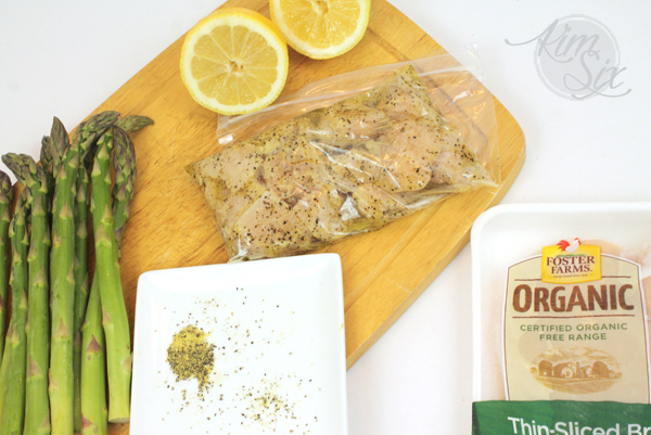 Marinating lemon pepper chicken for grilling