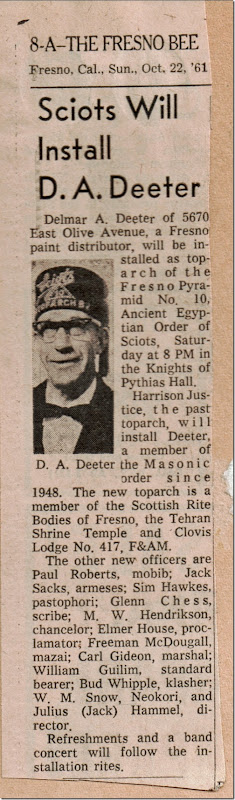 Sciots Install D A Deeter Fresno Bee 10_22_1961
