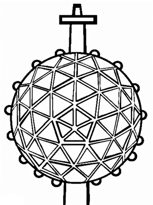 Images New Year Ball drop coloring pages