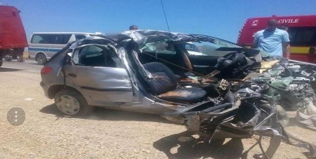 بنزرت: وفاة عون بالأمن الرئاسي وزوجته وابنه ووالدته في حادث مرور