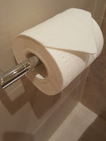 Even the toilet paper had to be exactly right.