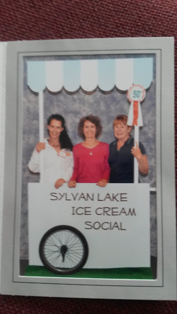 Sylvan Lake Ice Cream Social, 50th anniversary. GWBHS volunteers L to R: Sue Murphy, Gina Gregory, Chris Concidine