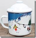 Enamel Ski Design Mug