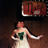 Colin McCarty and Rita Russell in ON THE VERGE - January/February 2000.  Property of The Schenectady Civic Players Theater Archive.