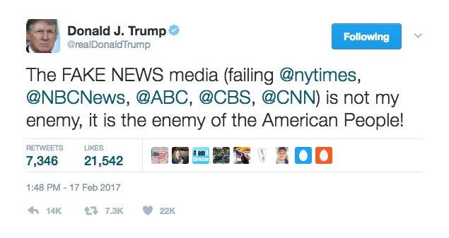 Antara Media Musuh Trump