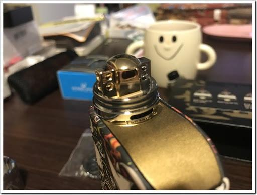 IMG 4253 thumb - 【OH!SAMURAI!】「Dovpo Bushido2 RDA」(ドヴポ・プシドーツーRDA)レビュー!フレーバー重視と言いつつ巨大なボトムエアフローで爆煙重視のRDA!レジンかストーンのドリップチップもカッコイイ!