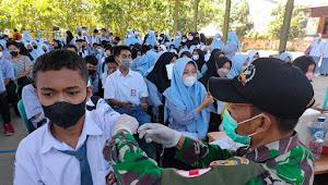 Kejar Target Vaksin Anggota Kodim 1628 /Sumbawa Barat Semangat Laksanakan Pendampingan