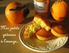 Mes petits gâteaux à l'orange