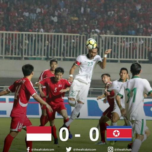 Timnas Indonesia di Tahan Imbang Korea Utara