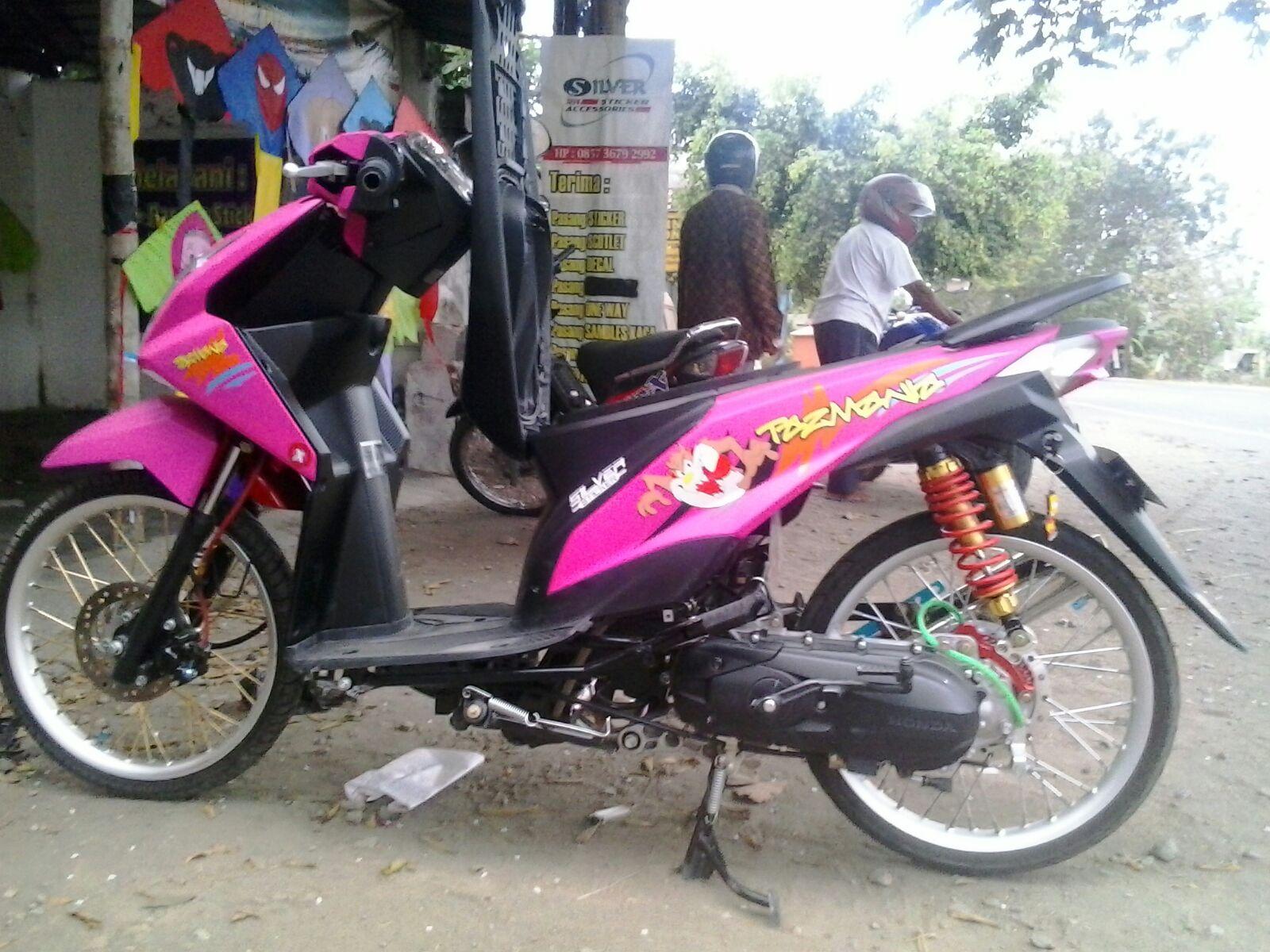 Kumpulan 78 Modifikasi Beat 2017 Warna Pink Terlengkap Kharisma