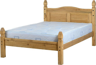Amazing Corona u double waxed bed frame